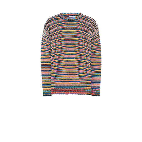 Multicolor Stripes Crew Neck Jumper