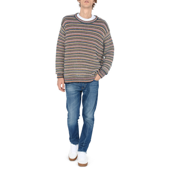 Multicolour Stripes Crew Neck Jumper