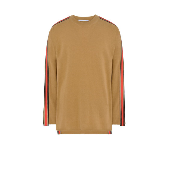 Camel Ribbon Trim Knit Jumper