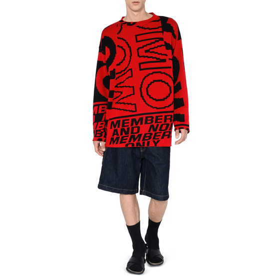 Red Members Print Jumper