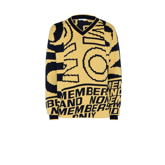Yellow Members Print Jumper