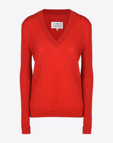 MAISON MARGIELA 4 Long sleeve sweater D Wool rib knit sweater f
