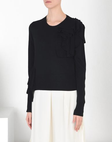 MM6 by MAISON MARGIELA Long sleeve sweater D Ruffled knitted pull-over f