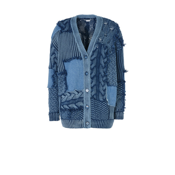 Patch denim Cardigan