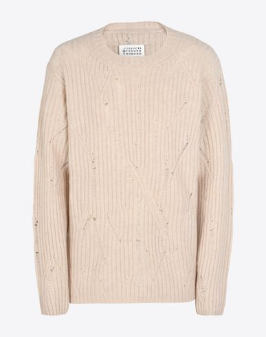 MAISON MARGIELA 10 Crewneck sweater U Destroyed maxi pull-over f