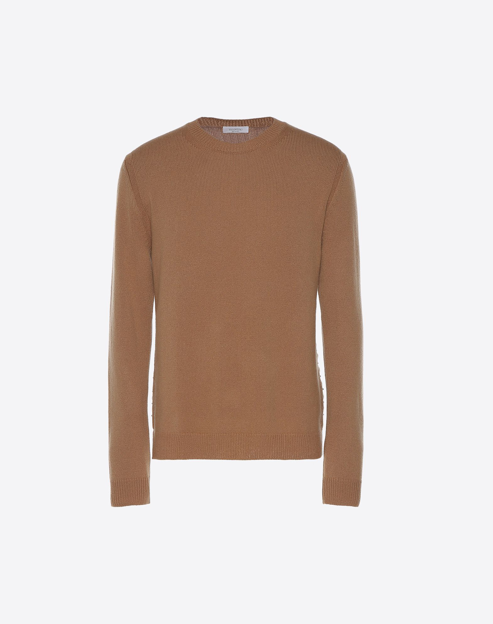 VALENTINO Studs Lightweight sweater Basic solid color Round collar Long sleeves  39713003wt