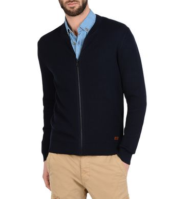 NAPAPIJRI DULUTH MAN ZIP SWEATER,DARK BLUE