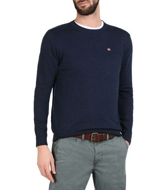 NAPAPIJRI DECATUR MAN CREWNECK SWEATER,DARK BLUE