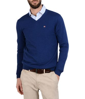 NAPAPIJRI DENDRE MAN V-NECK SWEATER,BLUE