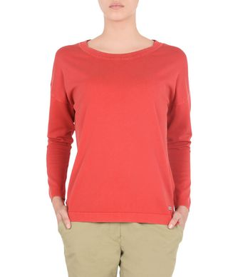 NAPAPIJRI DIAZ WOMAN LONG SLEEVE JUMPER,RED