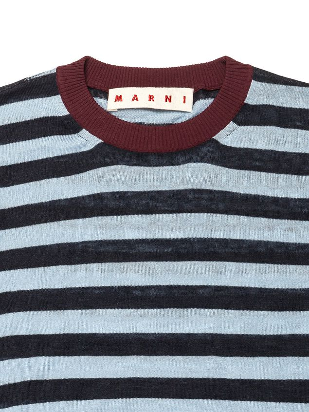 d17a5f51210 MARNI Short Sleeve Jumper Woman Knit in striped cotton and linen d