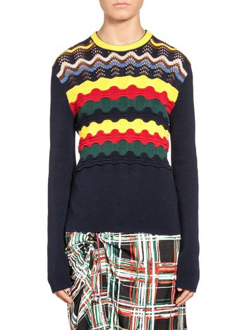 Marni Knit in cotton mixed stitches Woman