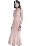 ALEXANDER WANG RIBBED TANK DRESS WITH LINGERIE BRA STRAP DETAIL KNIT DRESS Adult 8_n_a