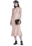 ALEXANDER WANG RIBBED TANK DRESS WITH LINGERIE BRA STRAP DETAIL KNIT DRESS Adult 8_n_f