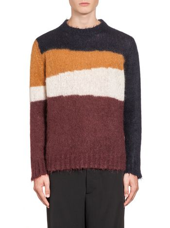 Marni Multi-coloured striped knit in wool and mohair  Man