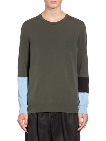 Marni Colour-block cotton knit  Man