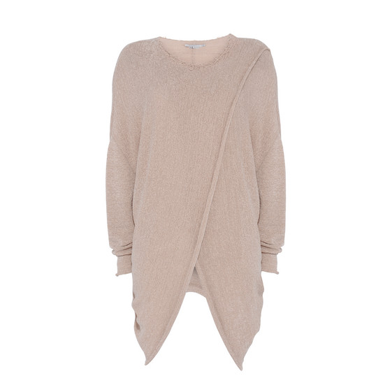 Textured Tape Round Neck Sweater