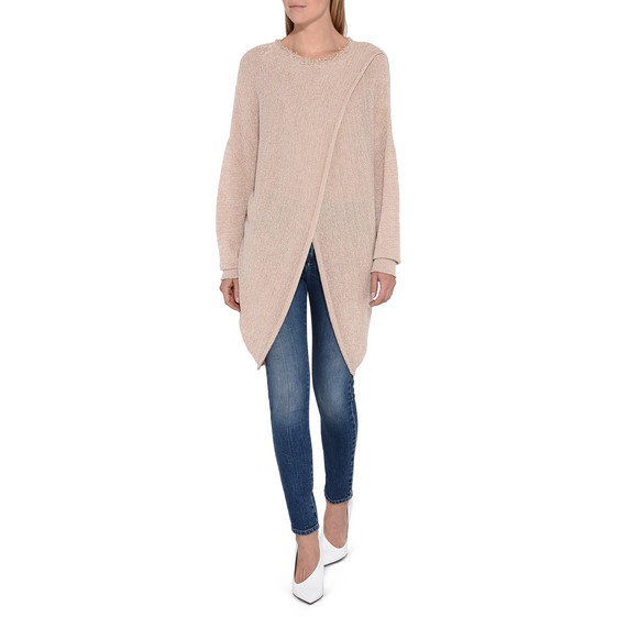 Textured Tape Round Neck Jumper