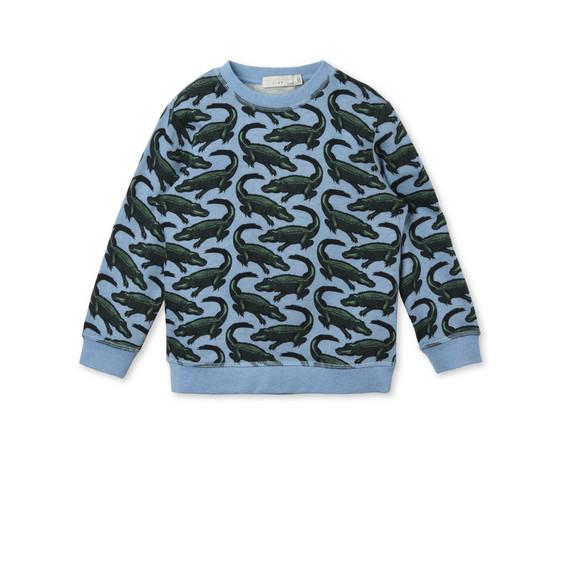 Blue Croc print Biz Sweatshirt