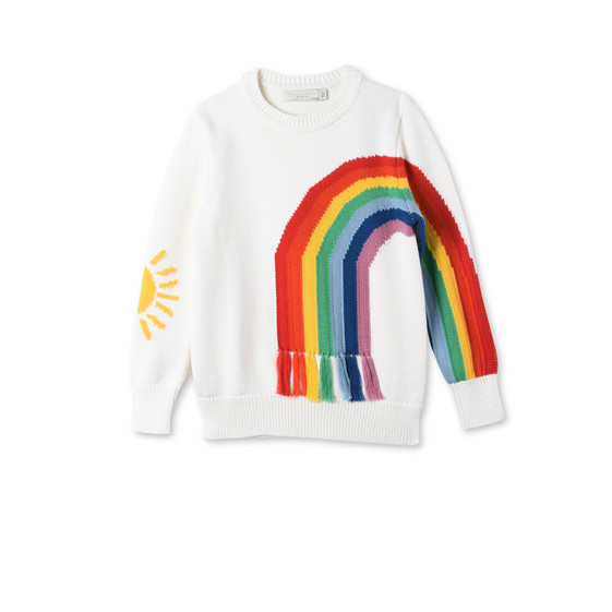 White Rainbow Jumper