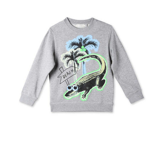 Croco Beach Print Biz Sweatshirt