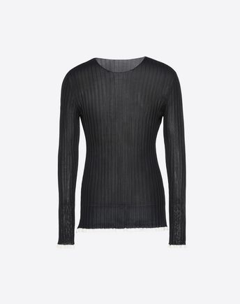 VALENTINO UNFINISHED VISCOSE SWEATER 39727537HD