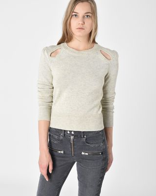 Klee  Cotton and wool sweater with cutout detail on shoulders