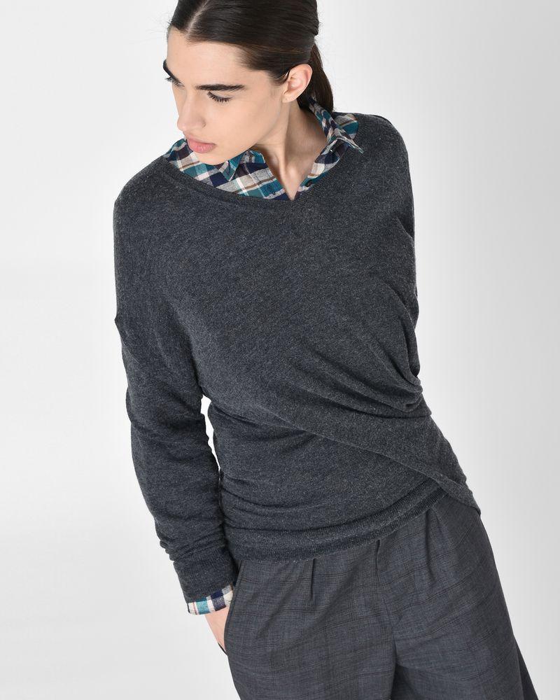 Alia 비대칭 드레이프 플레인 스웨터  ISABEL MARANT ÉTOILE