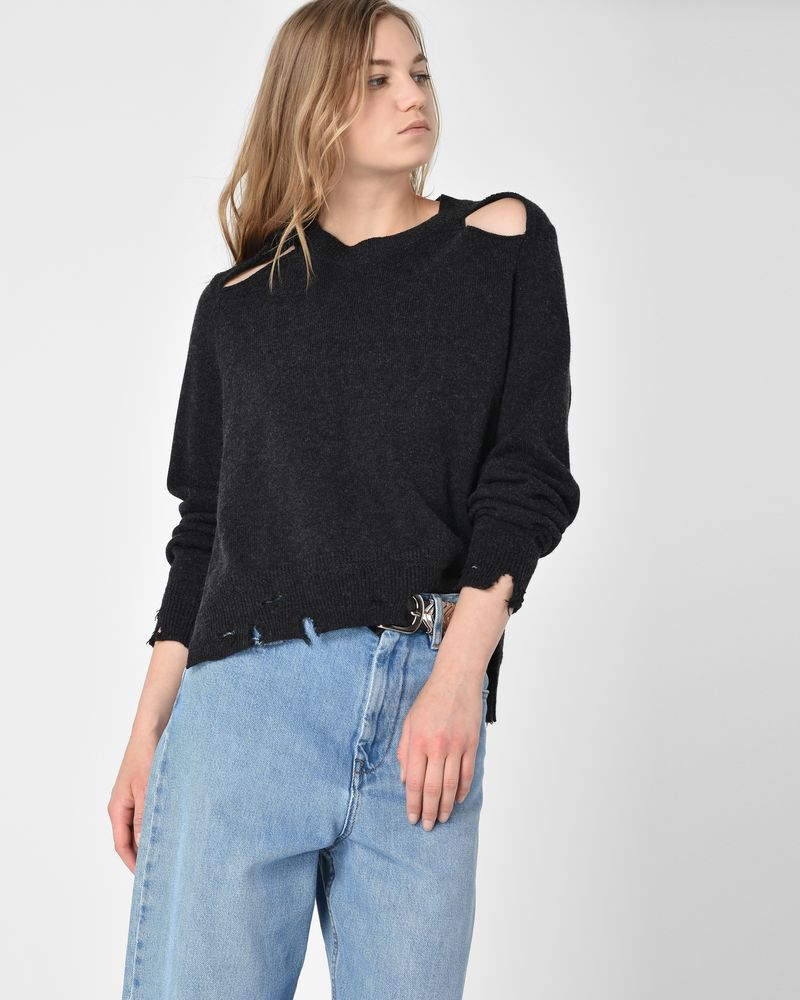 Kelia Grunge cotton and wool sweater ISABEL MARANT ÉTOILE