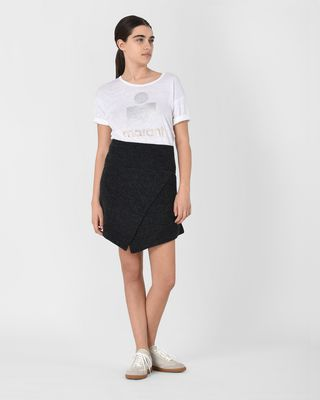 ISABEL MARANT ÉTOILE SHORT SKIRT Woman Blithe Asymmetric wool mini skirt r