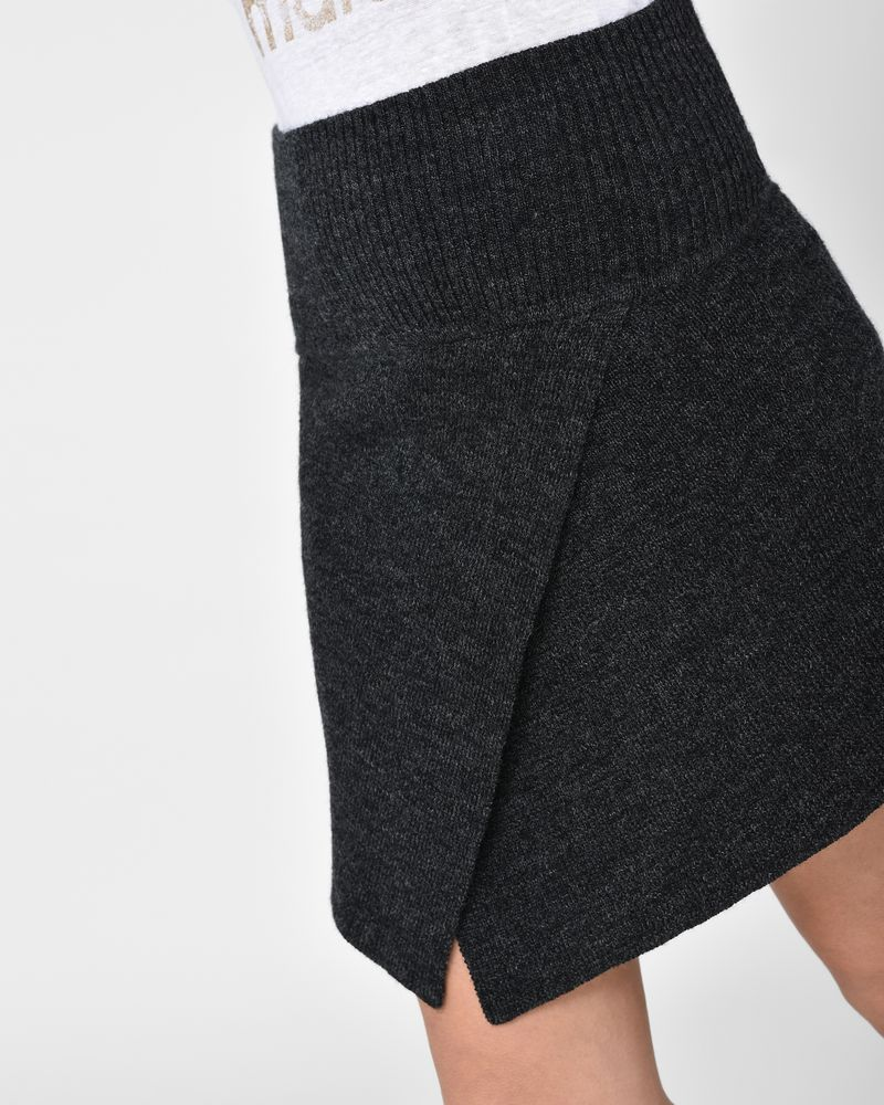 Blithe Asymmetric wool mini skirt ISABEL MARANT ÉTOILE