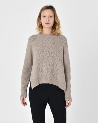 Elena Cable knit alpaca sweater
