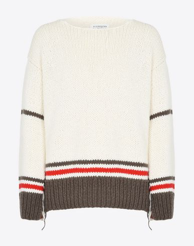 MAISON MARGIELA Crewneck sweater U Striped Replica sweater f