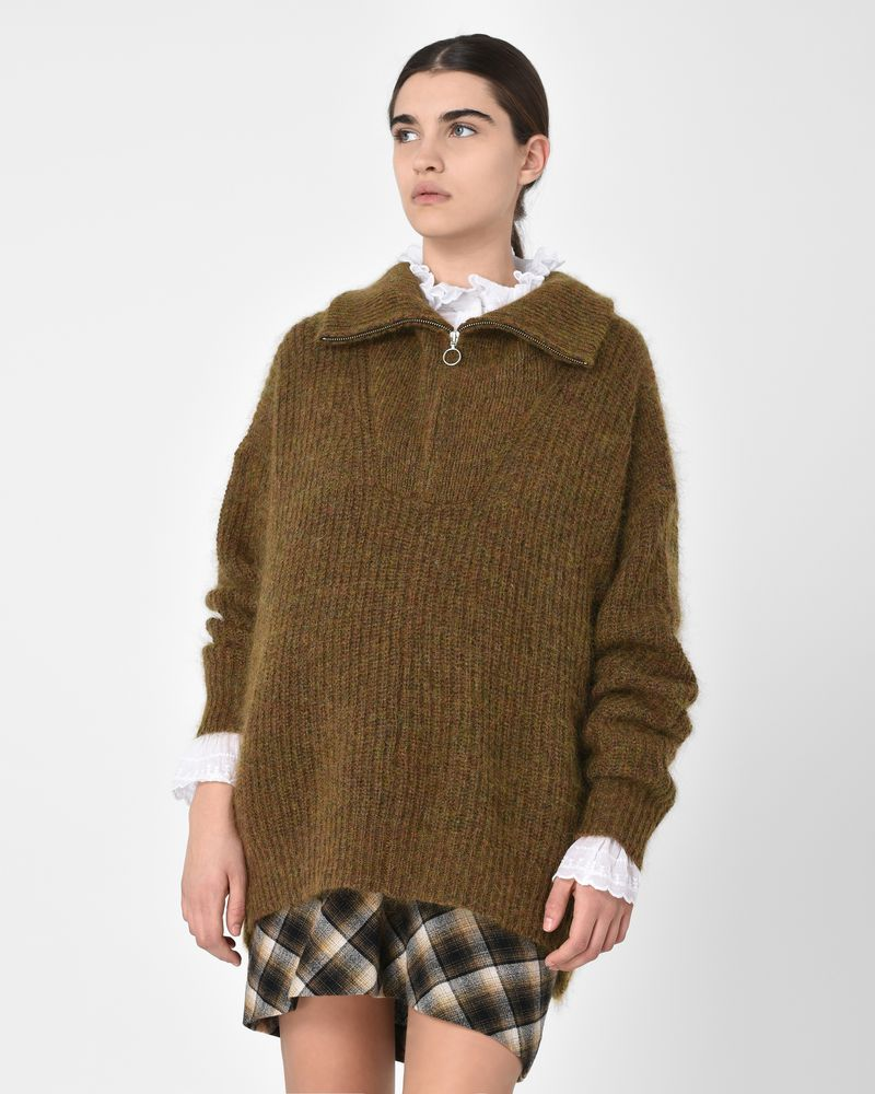 74f752c779 Declan Zip-neck jumper in mohair blend
