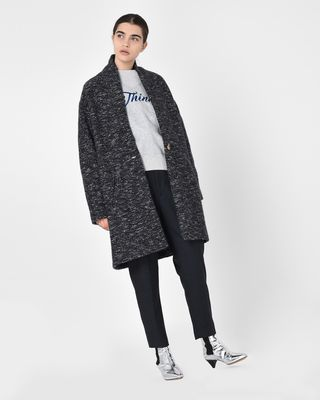 ISABEL MARANT ÉTOILE COAT Woman Osbert Oversize cotton blend coat r
