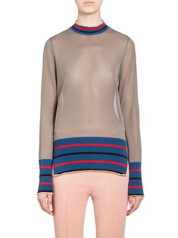 Marni Knit top in wool and viscose with stripes Woman