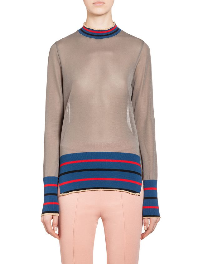 4f4d7db180 Knit Top In Wool And Viscose With Stripes from the Marni Spring ...