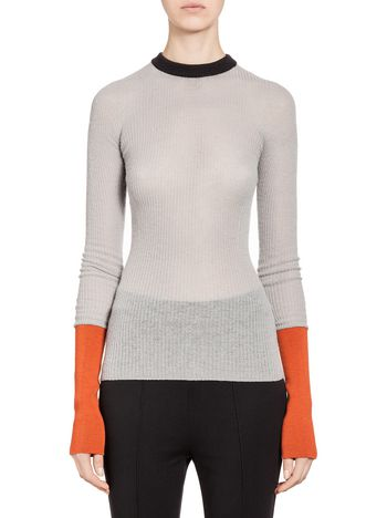 Marni Top in wool rib knit Woman