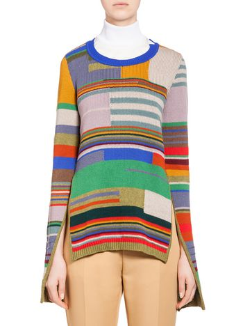 Marni Top in patchwork wool knit Woman