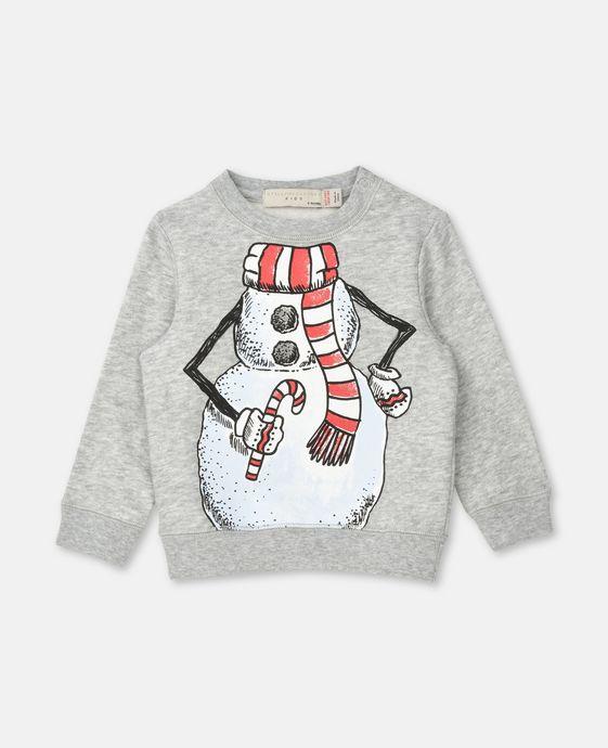 Biz Snowman Print Sweater