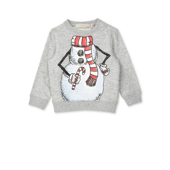 Biz Snowman Print Jumper