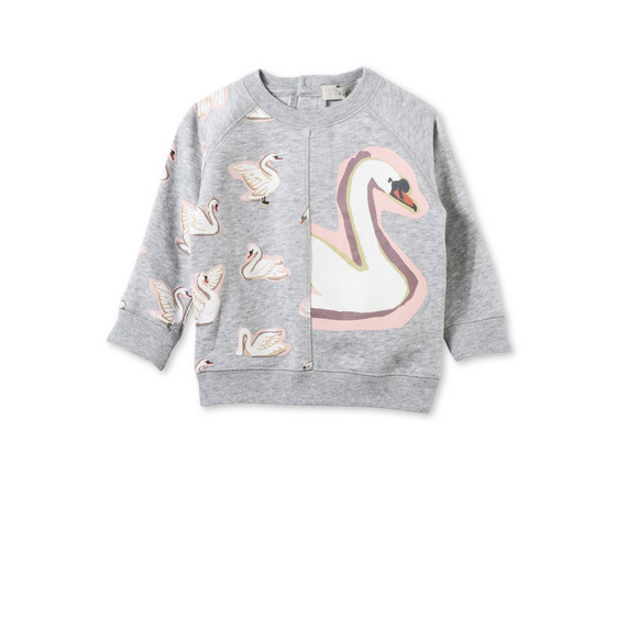 Betty Swan Print Sweatshirt