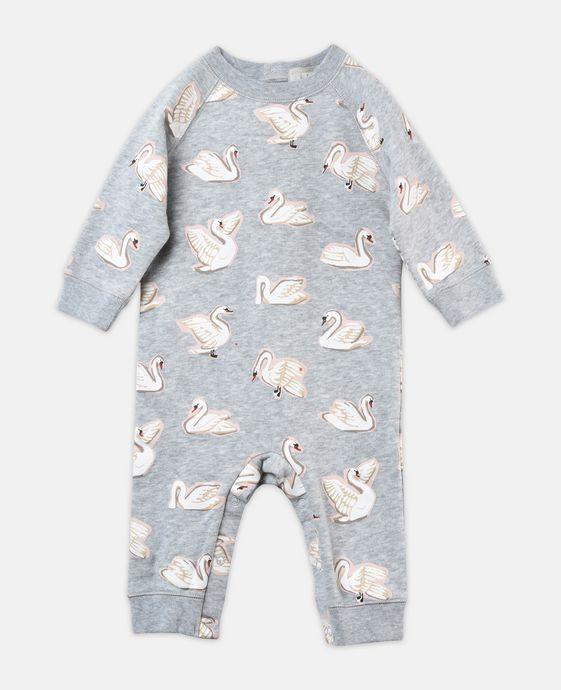 Jimbo Swan Print Babygrow