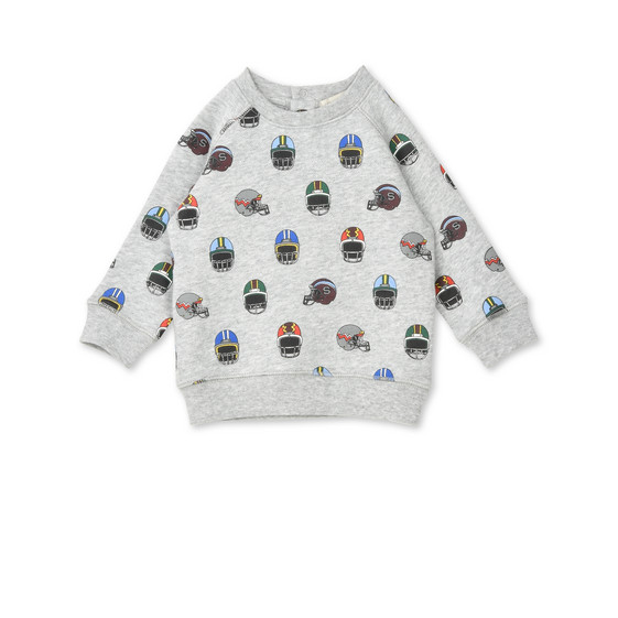 Billy Helmet Print Sweatshirt