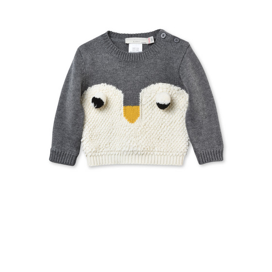 Ira Penguin Intarsia Sweater