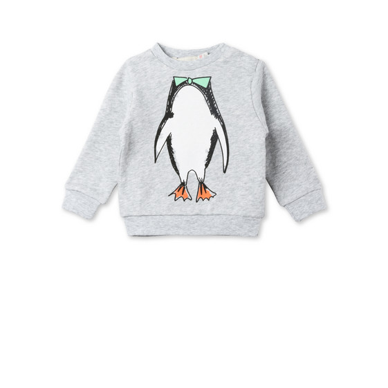 Biz Penguin Print Sweater