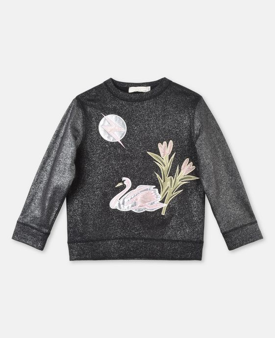 Valeria Swan Appliqué Sweater