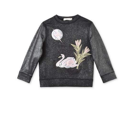Valeria Swan Appliqué Sweater
