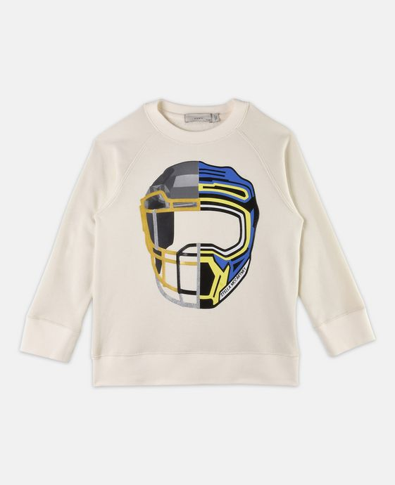 Arlie White Helmet Sweater