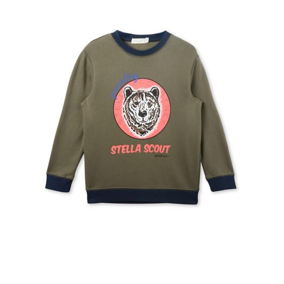 Biz Khaki Bear Print Jumper